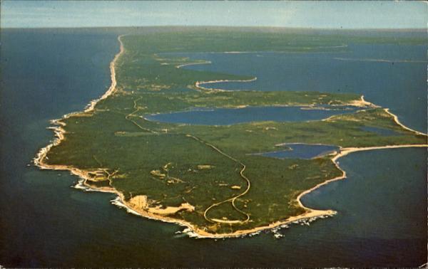 Aerial View Of Montauk Long Island Ny