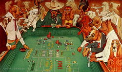 Dogs Playing Craps