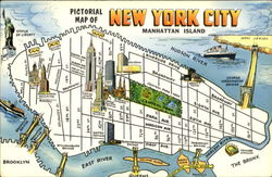 Pictorial Map Of New York City