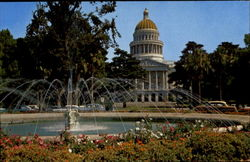 State Capitol And Fountain