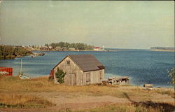 Michigan's Beautiful Grand Marais Harbor Postcard