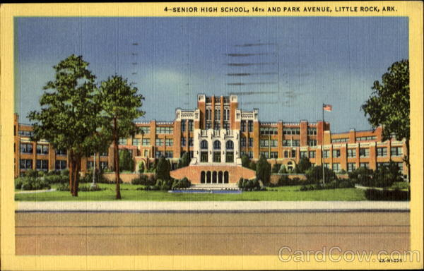 Senior High School, 14th and Park Avenue Little Rock Arkansas