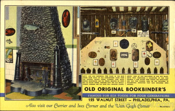 Old Original Bookbinder's, 125 Walnut St Philadelphia Pennsylvania