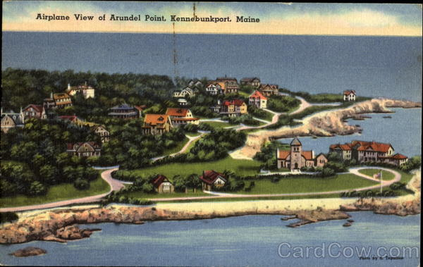 Airplane View Of Arundel Point Kennebunkport Maine