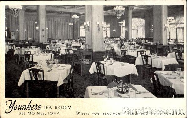 Younkers Tea Room Des Moines Ia