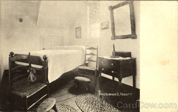 Bedroom Furniture Belonging To Mrs. Barbara Fritchie Frederick Maryland
