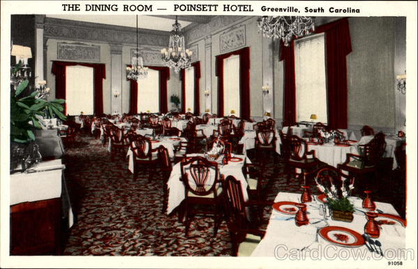 The Dining Room Poinsett Hotel Greenville South Carolina
