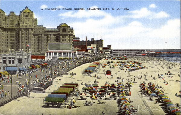 A Colorful Beach Scene Atlantic City New Jersey