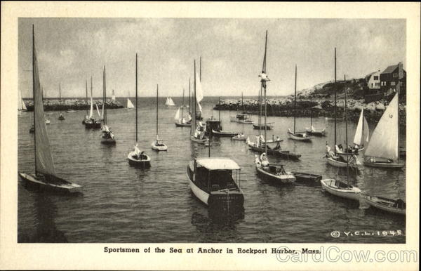 Sportsmen Of The Sea At Anchor In Rockport Harbor Massachusetts