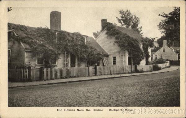 Old Houses Near The Harbor Rockport Massachusetts