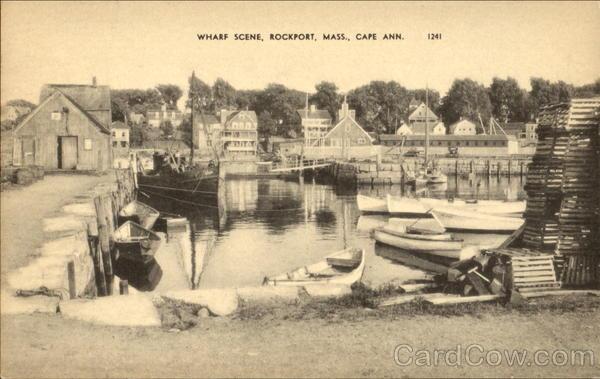 Wharf Scene, Cape Ann