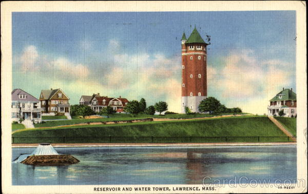 Reservoir And Water Tower Lawrence Massachusetts