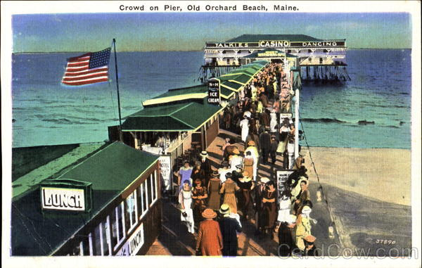 Crowd On Pier Old Orchard Beach Maine