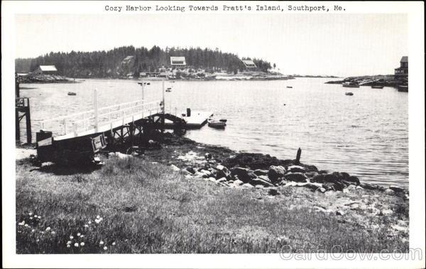 Cozy Harbor Looking Towards Pratt's Island Southport Maine