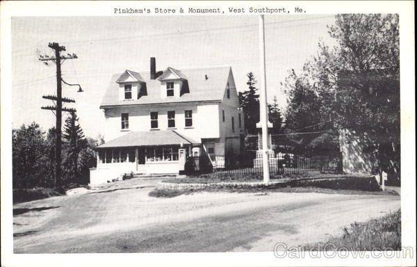 Pinkham's Store & Monument West Southport Maine