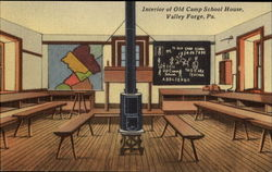Interior Of Old Camp School House