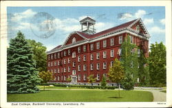 East College, Bucknell University Postcard