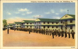 Company Formation Before Barracks, Camp Lee