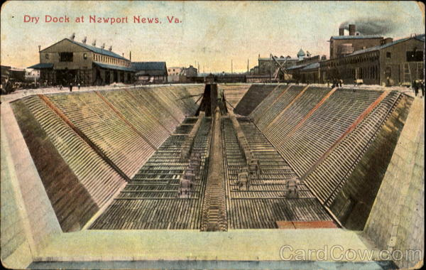 Dry Dock At Newport News Virginia