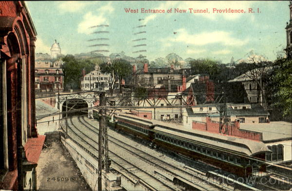 West Entrance Of New Tunnel Providence Rhode Island