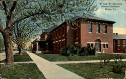 B And E Barracks, Soldiers' Home Postcard