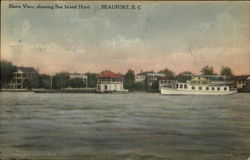 Shore View Showing Sea Island Hotel
