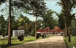 Bear Cage And Restaurant, Forest Park Postcard