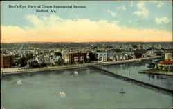 Bird's Eye View Of Ghent Residential Section Postcard