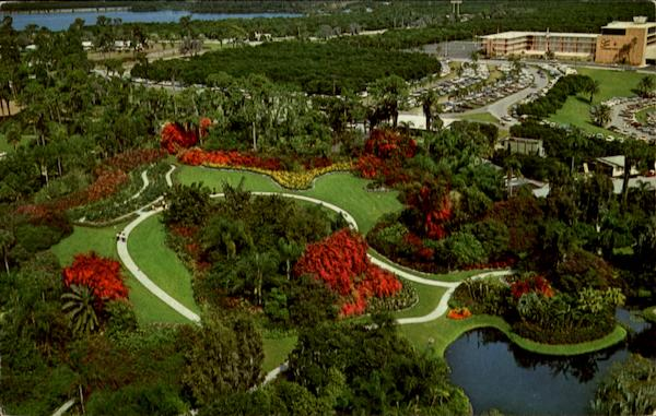 Aerial Scene Of Florida's Fabulous Cypress Gardens