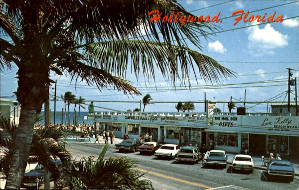 Along Johnson Street With The Famous Hollywood Beach Florida