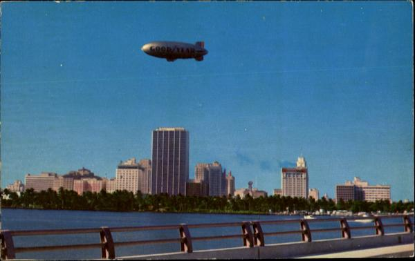 Goodyear Blimp Over Miami Florida