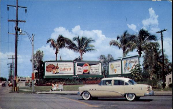 Antique Car and Billboards Cars