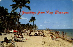 Greetings From Key Biscayne Postcard