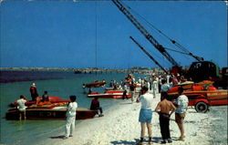 Getting Ready For Boat Races Postcard