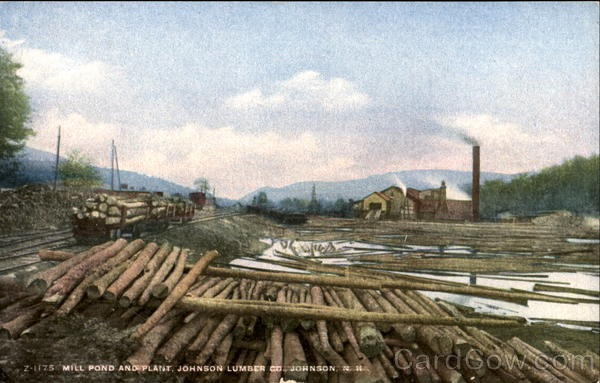 Mill Pond And Plant, Johnson Lumber Co. Franconia New Hampshire
