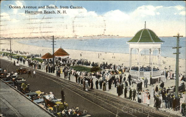 Ocean Avenue And Beach From Casino Hampton Beach New Hampshire