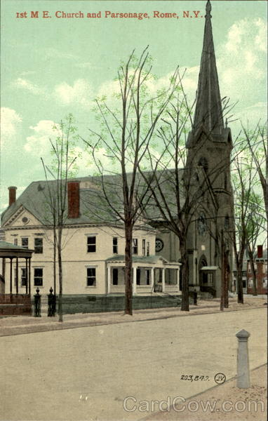 Ist M. E. Church And Parsonage Rome New York