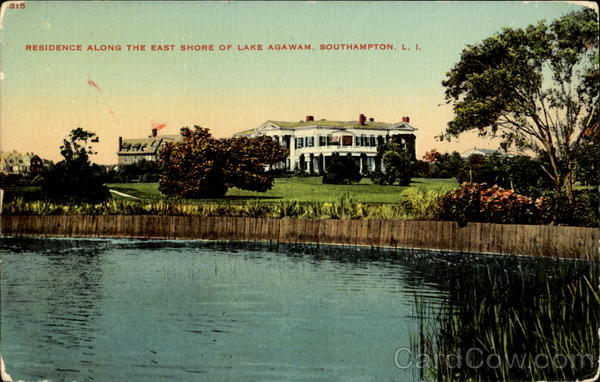 Residence Along The East Shore Of Lake Agawam Southampton New York