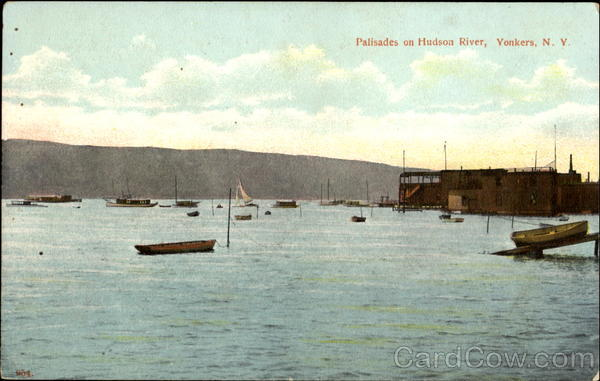 Palisades On Hudson River Yonkers New York