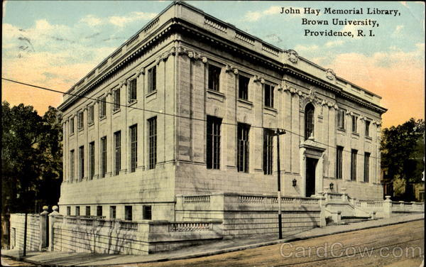John Hay Memorial Library, Brown University Providence Rhode Island