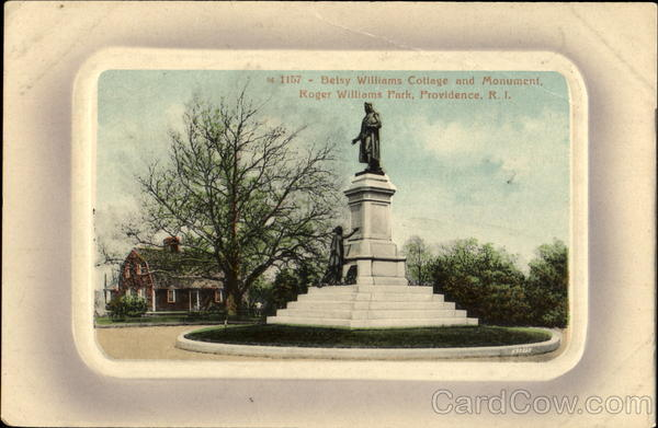Betsy Williams Cottage And Monument, Roger Williams Park Providence Rhode Island