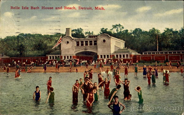 Belle isle bath house and beach detroit mi for Bath house michigan