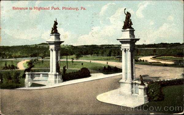 Entrance To Highland Park Pittsburg Pennsylvania