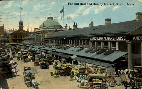 Faneiul Hall And Quincy Market Boston Massachusetts