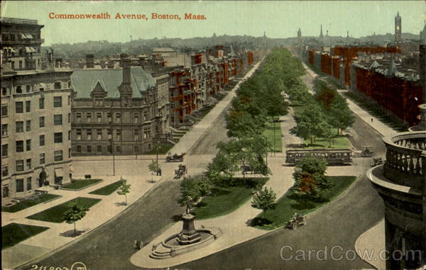 Commonwealth Avenue Boston Massachusetts