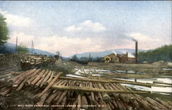 Mill Pond And Plant, Johnson Lumber Co.