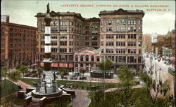 Lafayette Square Showing Soldiers & Sailors Monument