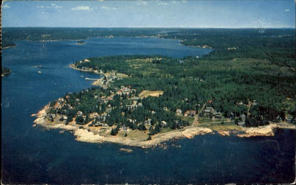 Air View Of Ocean Point Scenic Maine