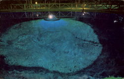 Night Shot Blue Hole Postcard