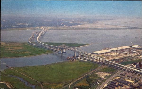 Aerial View Of The Cooper River Bridges Charleston South Carolina